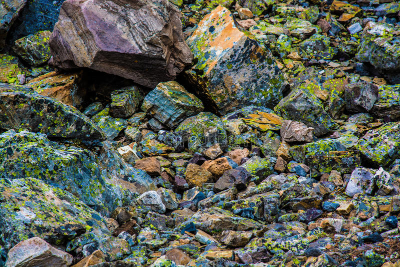 Colourful rocks royalty free stock photos