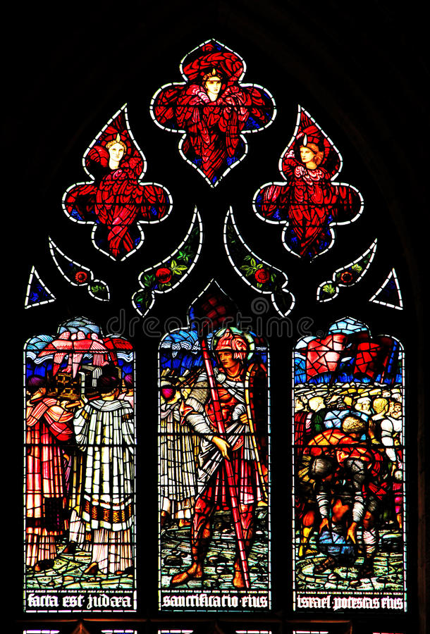 Download Colourful Rose Stained Glass Window Panel In Edinburgh Editorial Photo