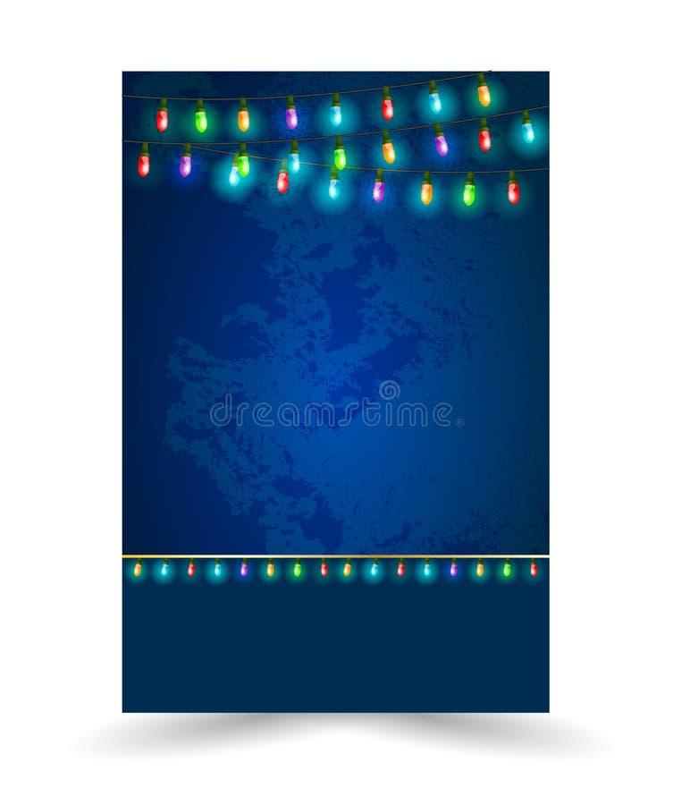 Colourful Rozjarzeni bożonarodzeniowe światła ilustracja wektor