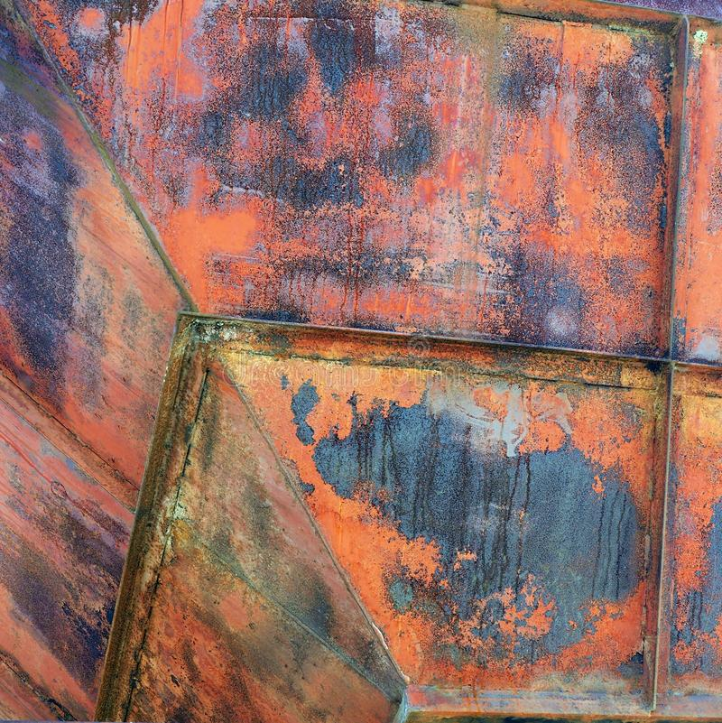 Colourful Rusted Metal, Semi-Abstract royalty free stock photo