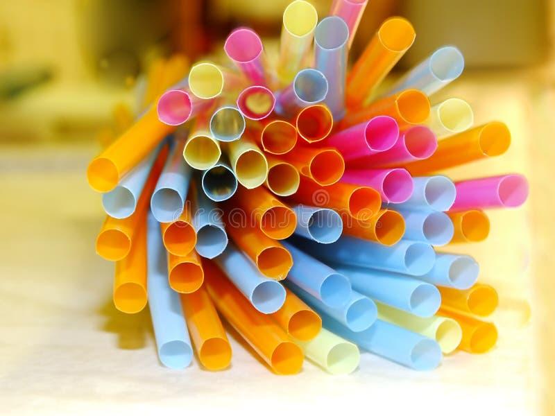 Colourful słoma fotografia stock