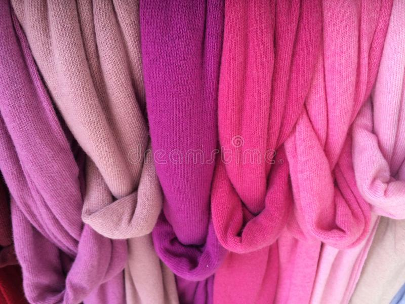 Colourful scarves stock photography