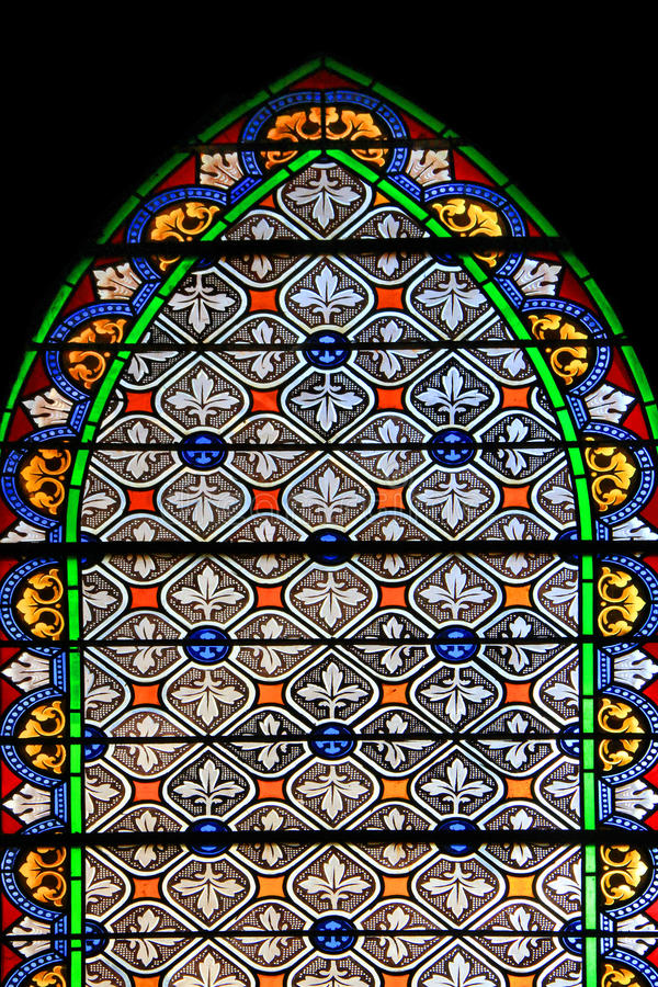 Download Colourful Seamless Stained Glass In Chusclan, France Stock Photo - Image: 32205346