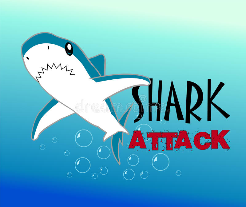 Download A Colourful Shark Vector Illustration Stock Vector - Image: 18483395