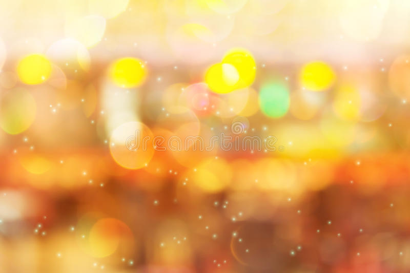 Colourful shining and glow light fancy sweet bokeh. Pastel dreamy shining and glow light fancy bokeh at night for romantic abstract background stock photography