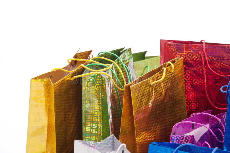 Colourful shoping bags.