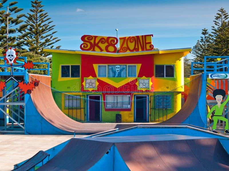 Colourful skatepark stock images