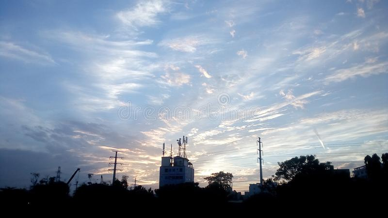 Colourful sky stock image