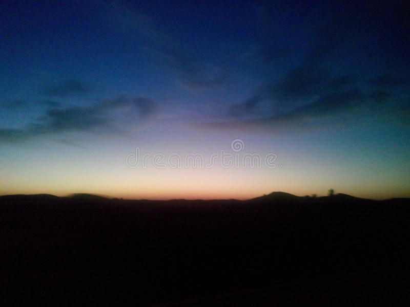 Colourful sky stock photography