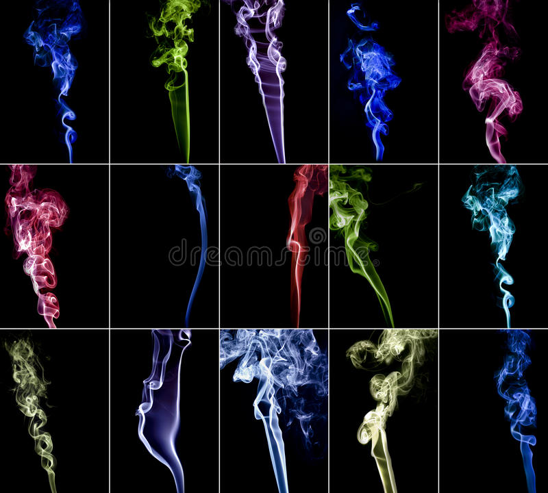 Download Colourful Smoke Collection 3 Stock Image - Image: 29127999