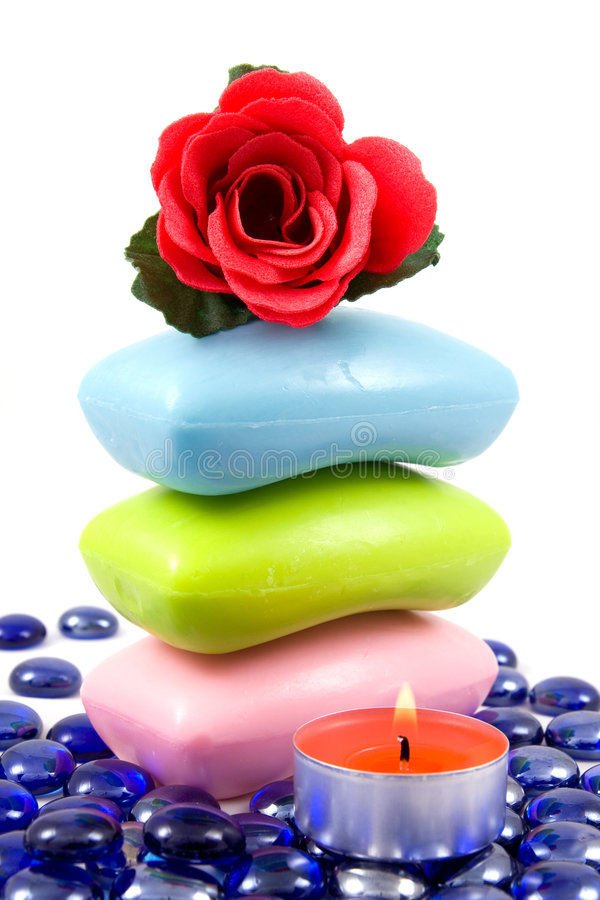 Download Colourful Soap And Aroma Rose Stock Photo - Image: 6987264