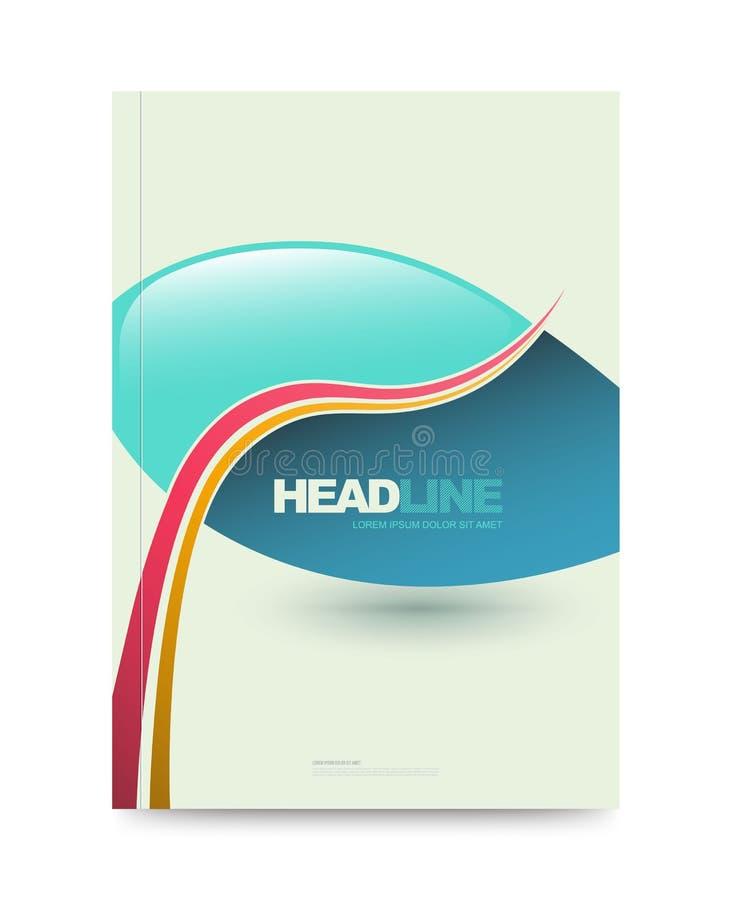 Colourful sprawozdanie roczne broszurki ulotki projekta szablon royalty ilustracja