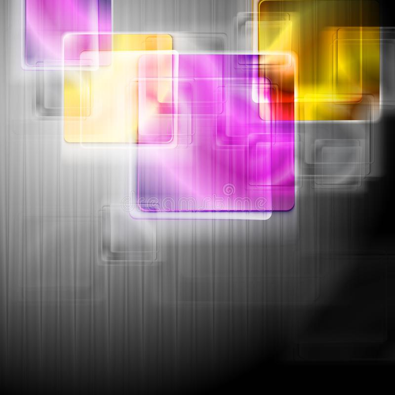 Colourful squares. Vector background