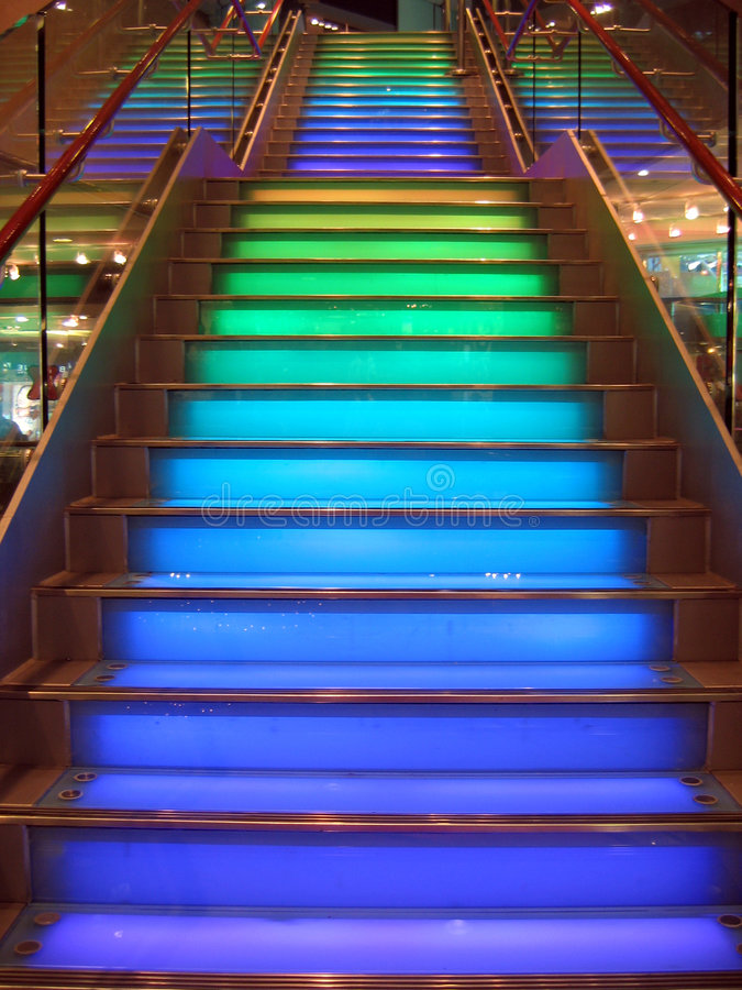 Colourful stairs royalty free stock photos
