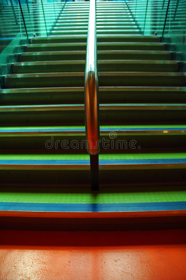 Colourful Stairway stock image