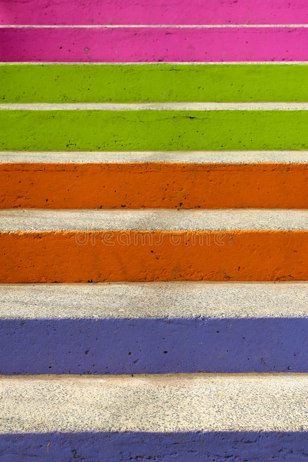 Free Colourful Steps Stock Photography - 59780022