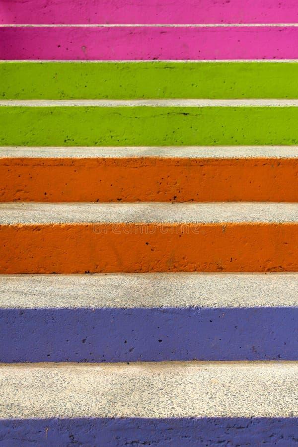 Colourful steps. Bright colourful urban concrete steps
