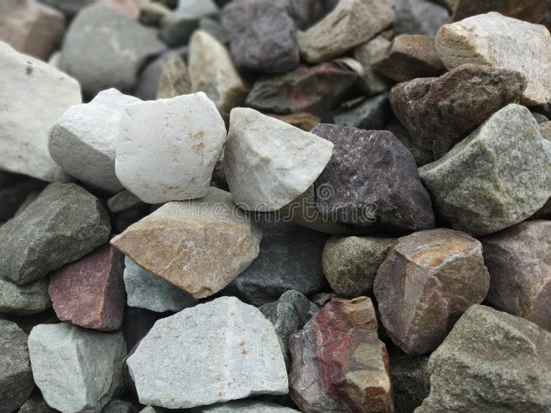 Colourful stones. In straight lines for a click stock photo