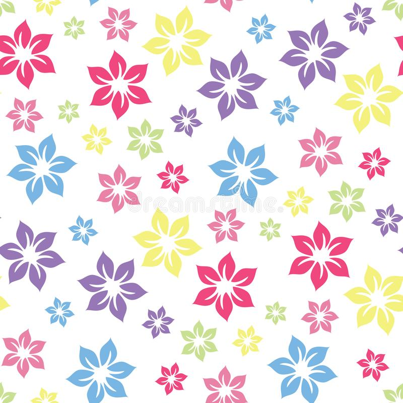 Colourful summery floral pattern . stock illustration