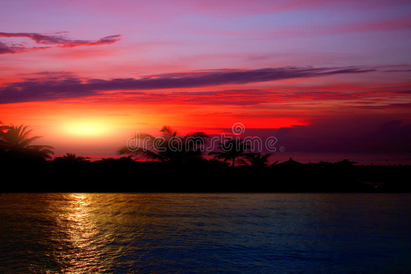 Colourful sunset stock image