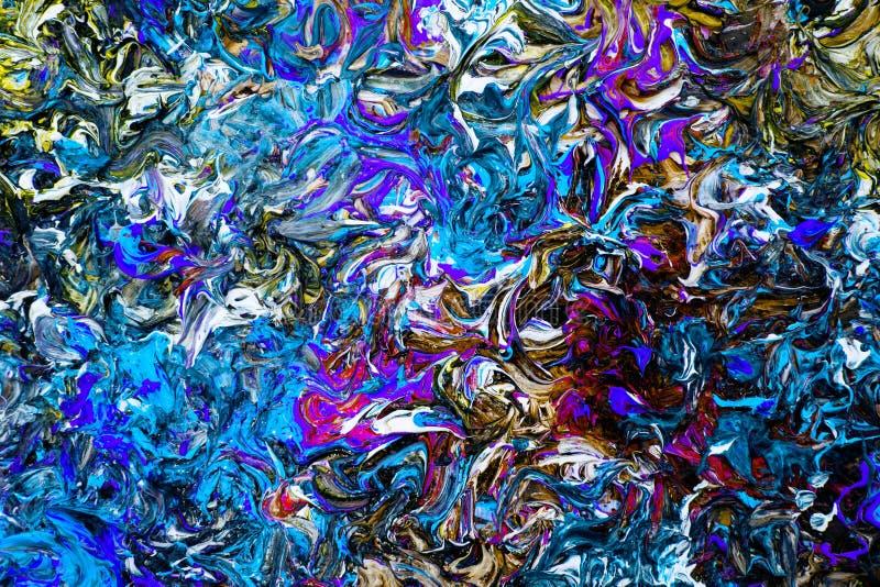 Colourful tło nafciane farby Filtrowy skutek obraz stock