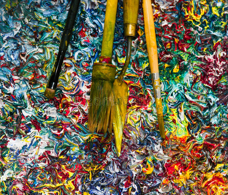 Colourful tło nafciane farby Filtrowy skutek zdjęcia royalty free