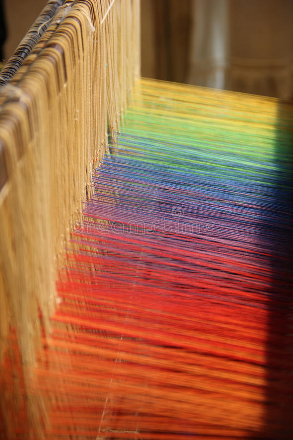 Colourful threads stock photo