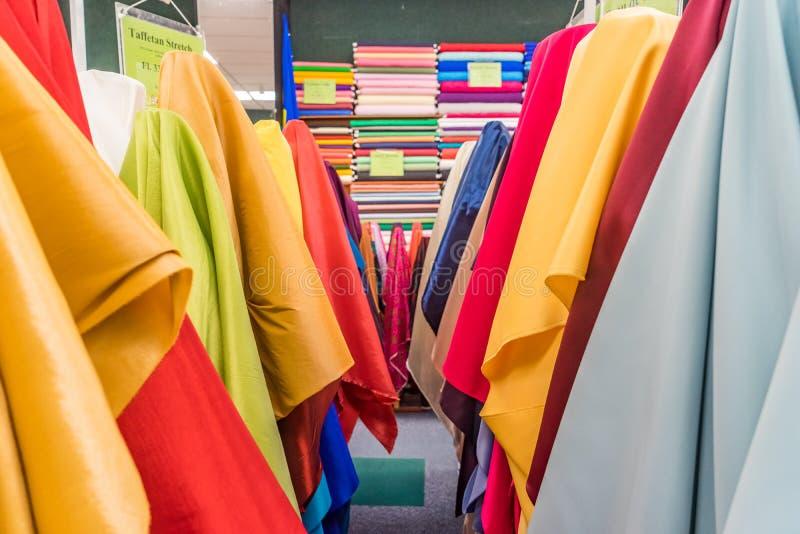 Colourful tkanina sklepu Curacao widoki zdjęcia stock