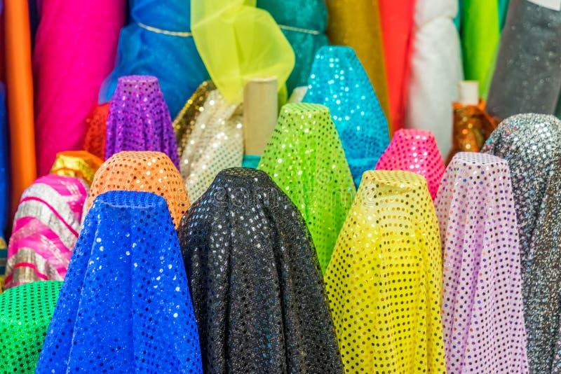 Colourful tkanina sklepu Curacao widoki fotografia stock