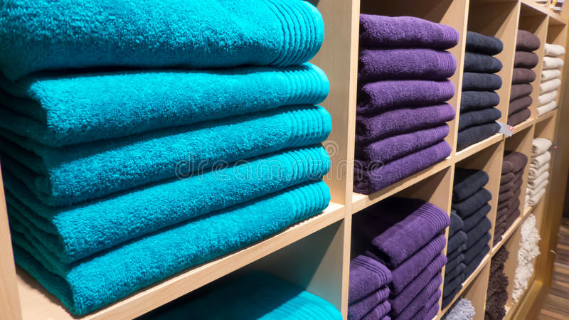 Colourful towels royalty free stock image