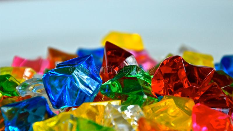 Colourful translucent crystals royalty free stock image