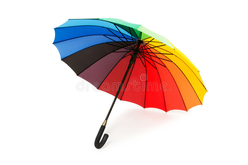Download Colourful Umbrella Isolated Royalty Free Stock Images - Image: 9320389