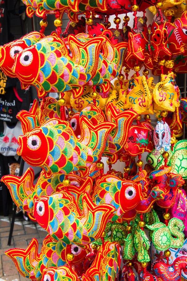 Colourful upiększone Chińskie błyskotki obraz stock