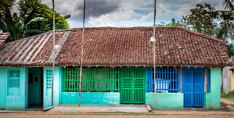 Colourful Village Home In South India Stock Image Image
