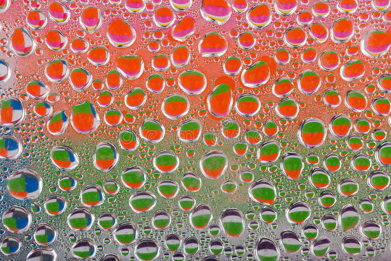 Colourful wod krople zdjęcia stock