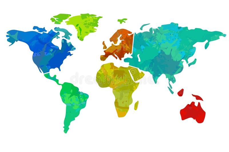 Colourful world map stock illustration illustration of background colourful world map on white background gumiabroncs