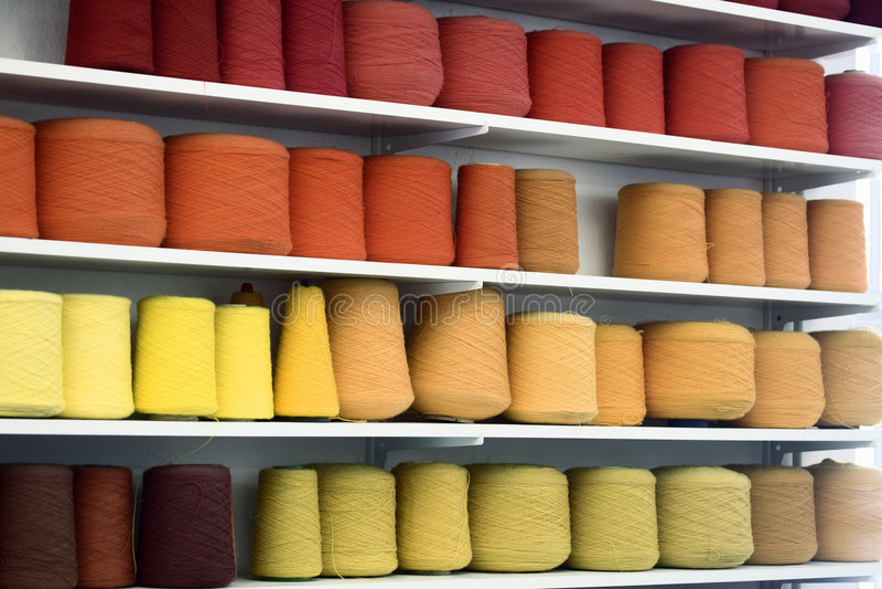 Colourful yarn royalty free stock photo