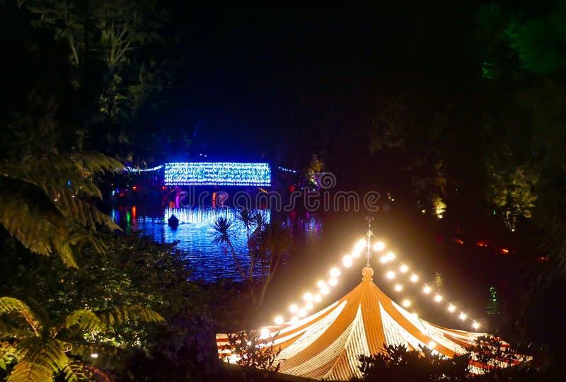 Colourful zaświecający jezioro zdjęcia royalty free
