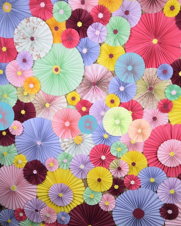 Colourfull轮转焰火背景 免版税图库摄影