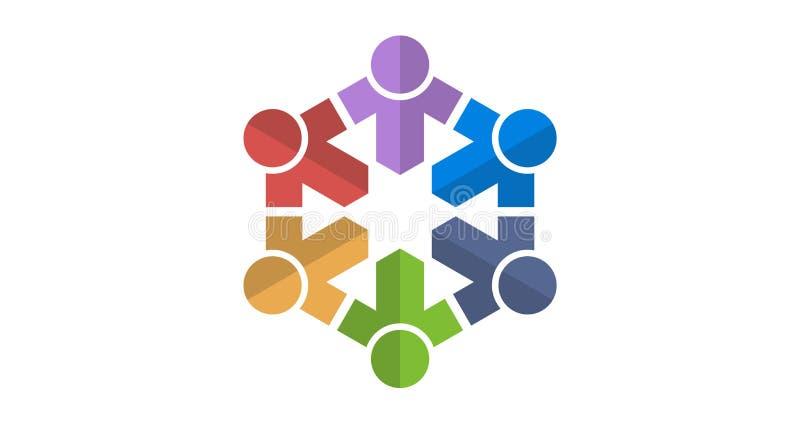 Colourfull логотипа команды стоковая фотография rf