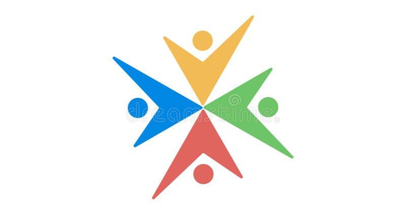 Colourfull логотипа команды стоковые фотографии rf