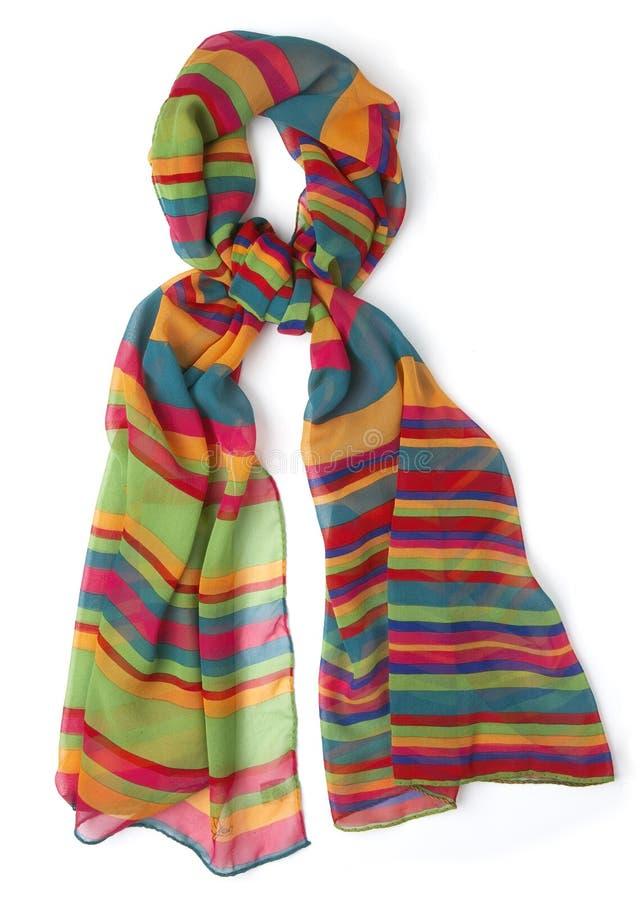 Colourfull-colorfull Schal auf Weiß lizenzfreie stockfotos