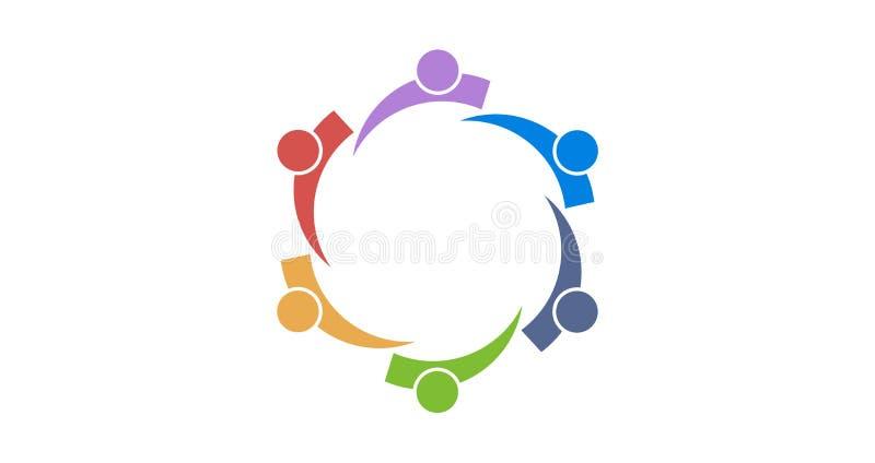 Colourfull di logo del gruppo illustrazione di stock