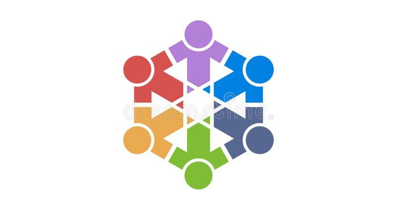 Colourfull di logo del gruppo immagine stock libera da diritti