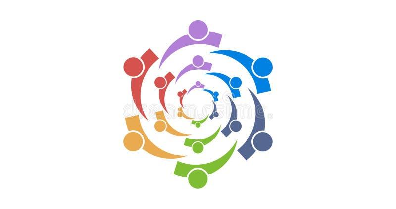 Colourfull di logo del gruppo fotografie stock