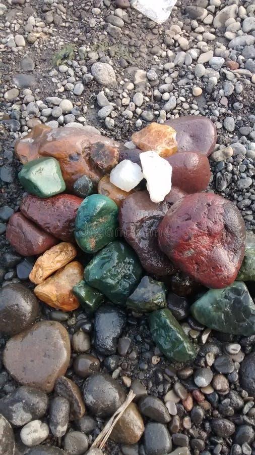 Colourfull kamienie obrazy royalty free
