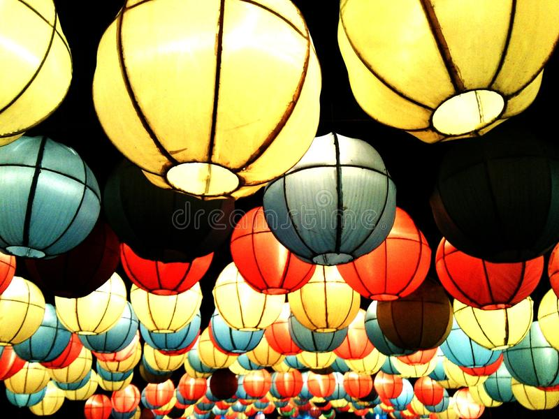 Colourfull Lampions стоковая фотография rf