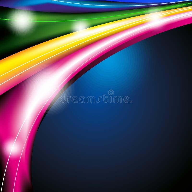 Colourfull moderne futuristische achtergrond met abstracte golven vector illustratie
