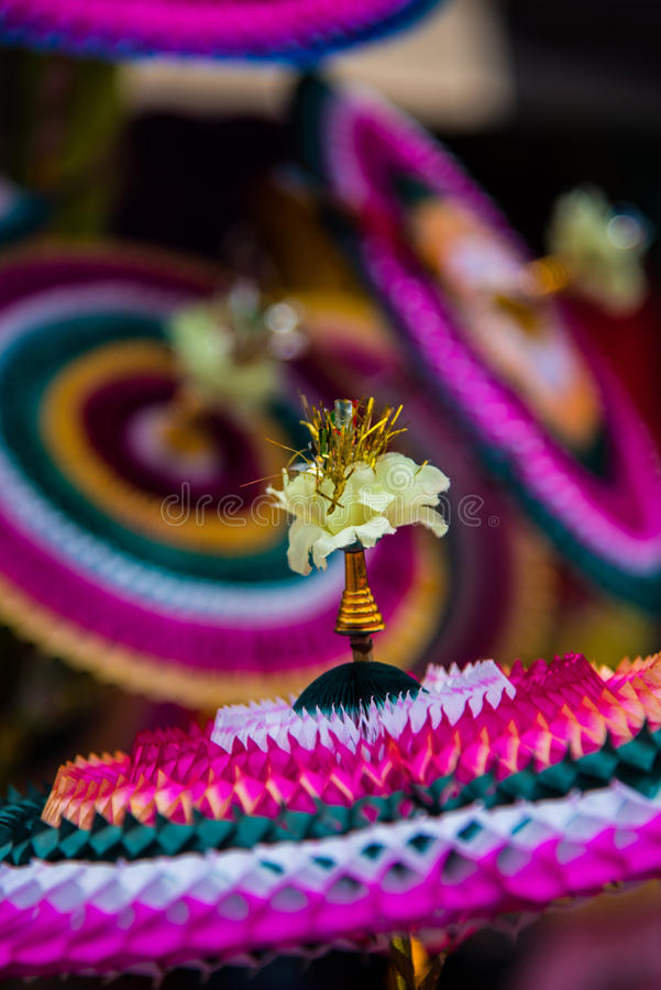 Colourfull paper made decorative items sell in the market at Chidambaram,Tamilnadu,India. royalty free stock images