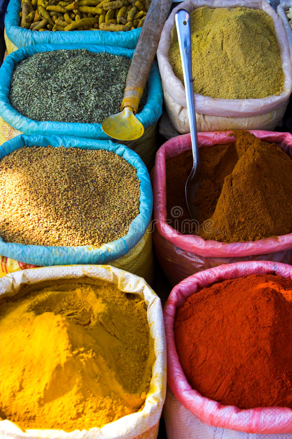 Colourfull Spices royalty free stock photos